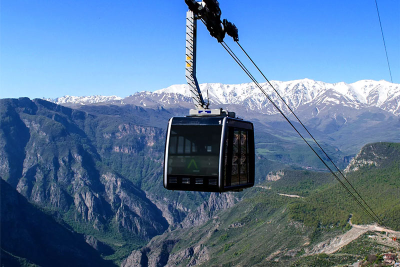 Armenia double track cable car