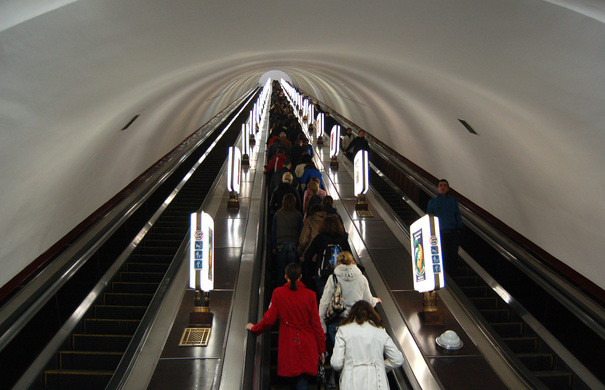 Arsenalna is the deepest metro station in the world