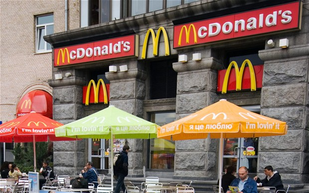 McDonalds in Kiev is among the most visited McDonald's restaurant in the world