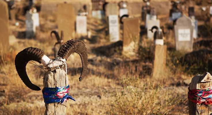 Catch a Glimpse of Cemetery Adorned with Goat Horns