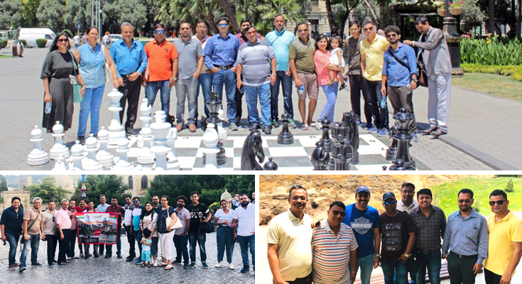 Sights Visit by Travel Agents During Baku FAM Tour